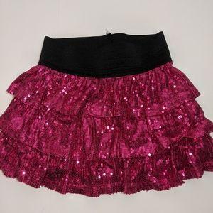 Pink sequen skirt